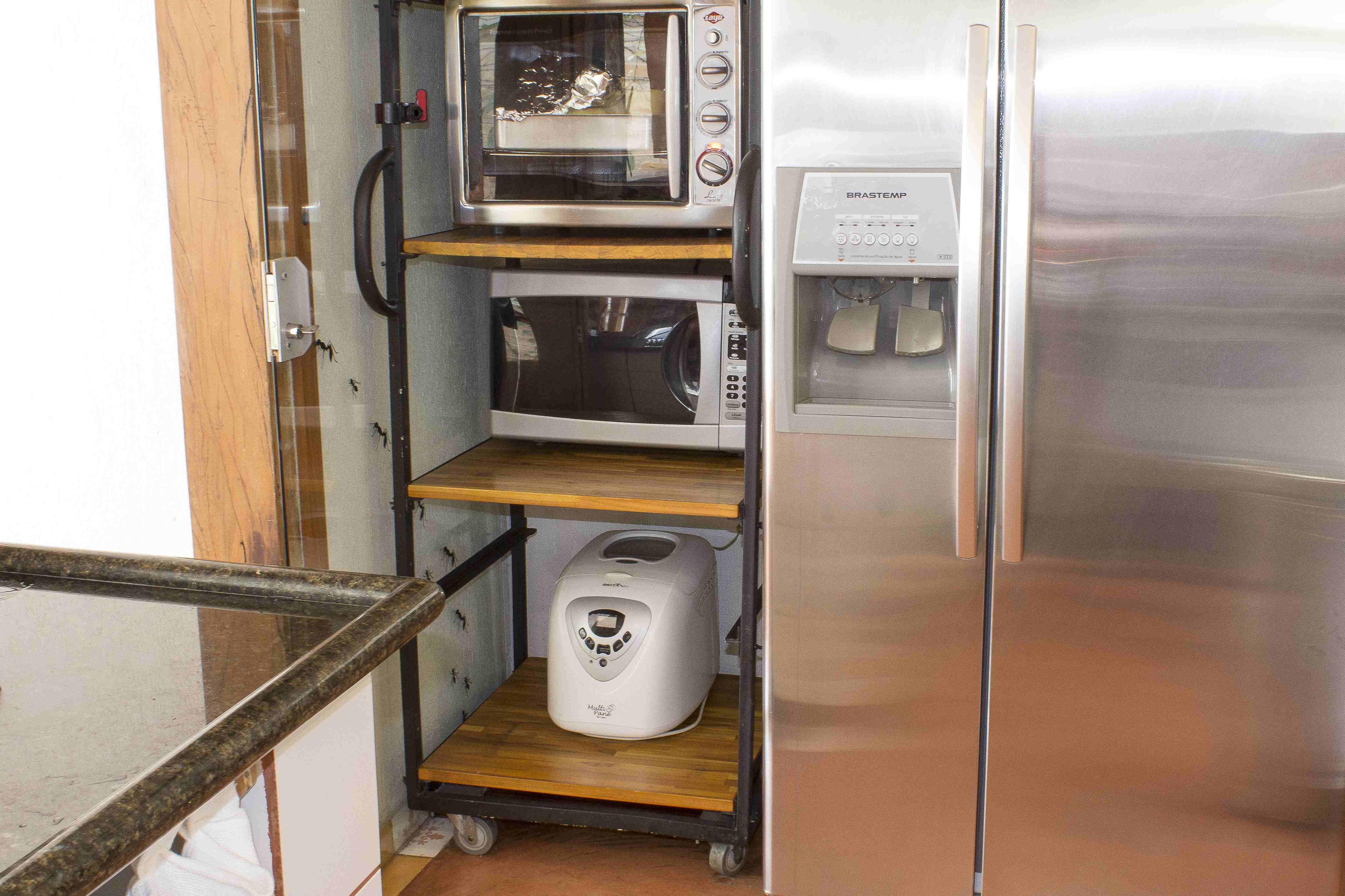 estantes para microondas ideas de disenos